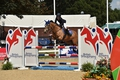 Twenty-year-old Veteran Allihies Fir Baoi beats the youngsters in the Pony Restricted Rider 1.10m Championship Final